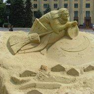 Esculturas Criativas Feitas de Areia