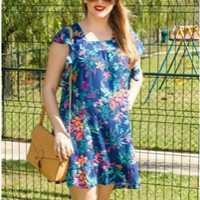 Look do Brás: Vestido Florido - Show Girls