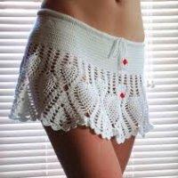 Mini Saia de Crochê Para o Verão