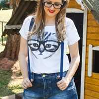 Looks do Brás: Shorts com Suspensórios
